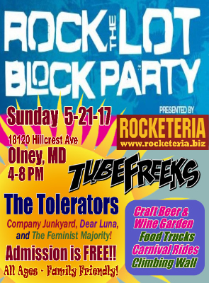 Tubefreeks to headline Rock the Lot Block Party