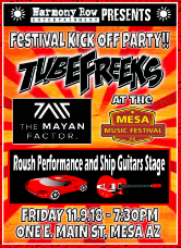 Tubefreeks at Mesa Music Festival Kickoff Party - 11-9-18