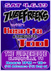Tubefreeks with Rosetta at The Warehouse - Clarksville, TN - 4-6-19