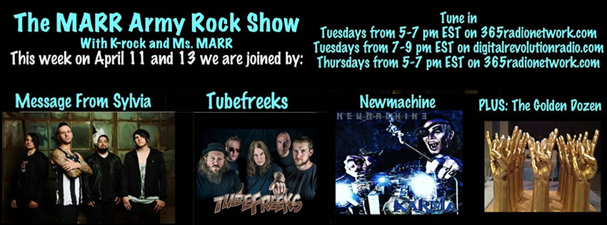 Tubefreeks to be on the MARR Army Rock Show